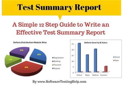 write  effective test summary report
