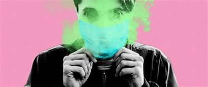 Bad Breath Mask Wearing Face While Masks