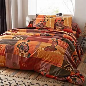Parure Drap Pas Cher : linge de lit africa blancheporte ~ Teatrodelosmanantiales.com Idées de Décoration