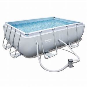 Piscine Bestway Rectangulaire : bestway kit piscine power steel frame pools rectangulaire ~ Melissatoandfro.com Idées de Décoration