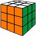 Cube Icon Rubik Vector Orange Rubic Magic
