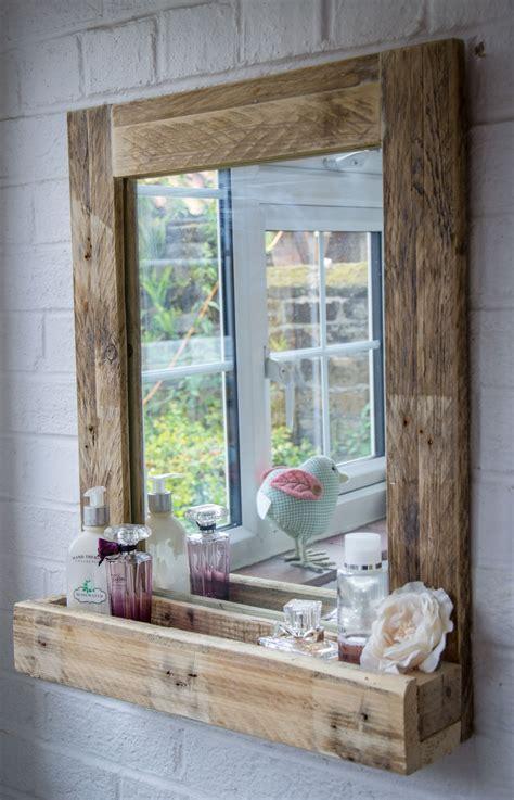 rustic bathroom mirror   reclaimed pallet wood