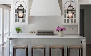 carriage lanterns over kitchen island transitional With kitchen colors with white cabinets with candle holder lanterns