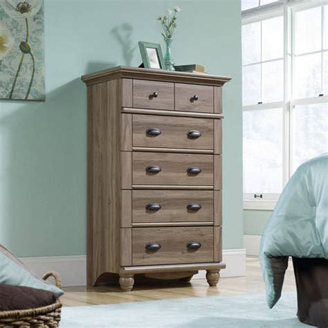 sauder harbor view dresser sauder harbor view 5 drawer dresser salt oak walmart