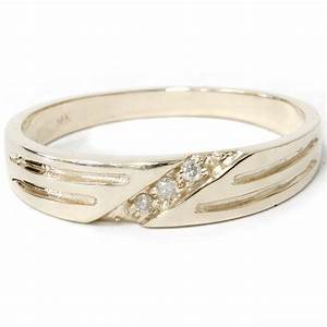 Mens 14k yellow gold diamond wedding anniversary ring ebay for 14k gold mens wedding ring