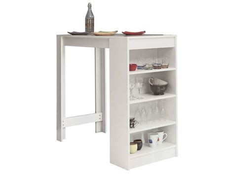 conforama table bar cuisine table bar avec rangement coloris blanc vente de table de