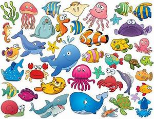 Instant Download 42 Cute Sea Animal Clip Art by ...