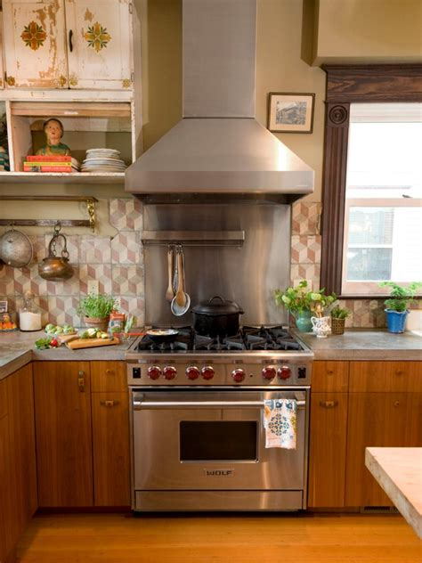 a kitchen with vintage character hgtv