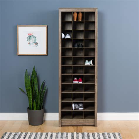 space saving shoe storage cabinet prepac space saving shoe storage cabinet drifted gray