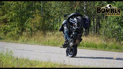 Yamaha Niken Wheelie by Bomber Magazine Ride Of Yamaha Niken