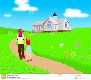 Go home stock illustration. Image of father, green ...