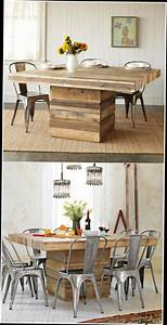 table basse en palette bois table salle a manger bois diy With salle a manger en palette