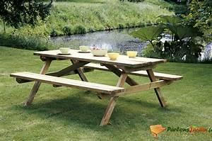 Table Bois Pique Nique : table de pique nique en bois tara ~ Melissatoandfro.com Idées de Décoration