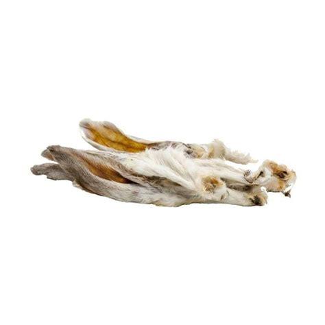 classic dog snack kaninchenohren mit fell   hase