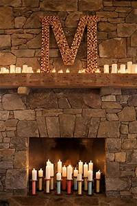 monogram decor fireplaces mantle ideas and the natural With monogram letter for mantle