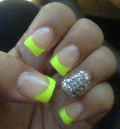 Neon French Tip Nail Designs