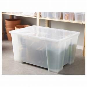 Samla Box Ikea : samla box mit deckel transparent ikea ~ Watch28wear.com Haus und Dekorationen