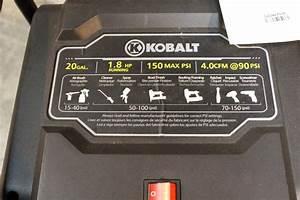 Kobalt 20 Gallon Air Compressor