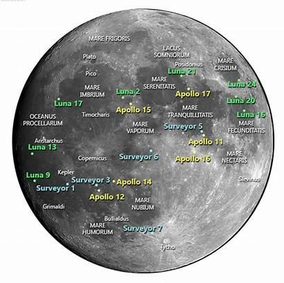 Moon Landing Lunar Missions Distance Apollo Luna