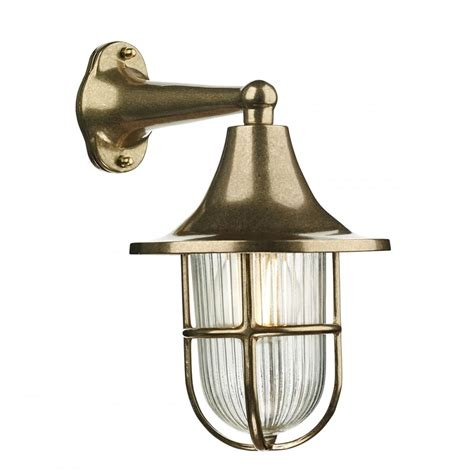 outdoor nautical style wall light solid cast brass with