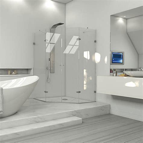 vigo industries frameless neo angle double door shower