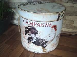 Boite Ronde Blanche : bo te ronde blanche campagne au coq d co campagne ~ Teatrodelosmanantiales.com Idées de Décoration