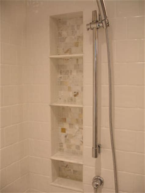 Shower Niche Height by Is It A Mistake To Not Do Recesses In Tiled Shower