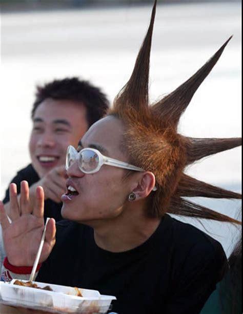 spiky mohawk   hair