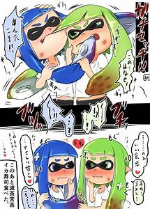 inkling (splatoon) drawn by 4shi - Danbooru