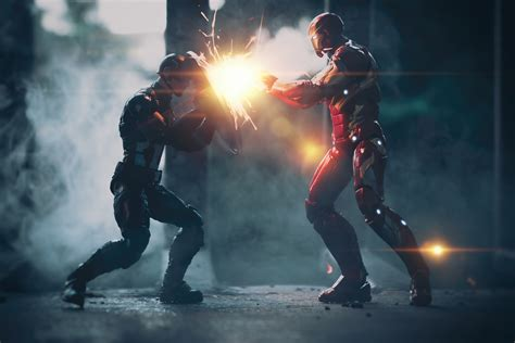 Captain America Vs Iron Man Artwork 5k, Hd Superheroes, 4k