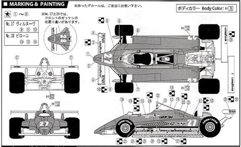 Ferrari 126 C2 Long Beach Clear Body Type (model Car