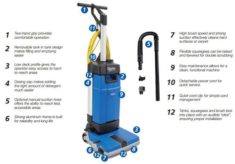 Clarke Floor Buffer Manual by Ma10 12ec Upright Automatic Floor Scrubber W Carpet Tool