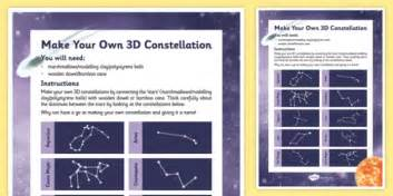 make your own 3d constellation stars constellations 3 d space