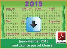 Kalenders 2015 Gratis Downloaden en Printen ? Feestdagen