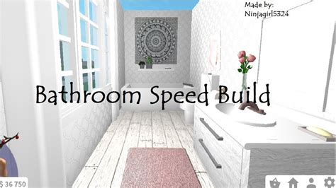 bloxburg bathroom speed build redecorating