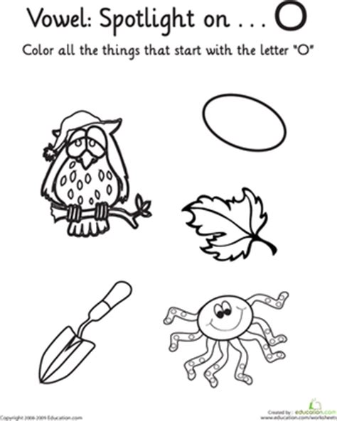 learning vowels quot o quot worksheet education 338 | learning vowels the alphabet letter