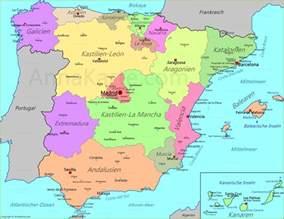 spanien fläche spanien karte annakarte