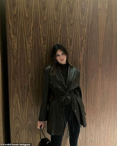 Kendall Jenner shares snaps in all-black after hitting ...