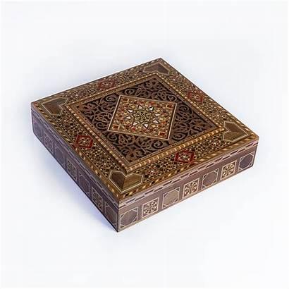 Jewelry Handmade Box Luxury Dark Beige Sharqi