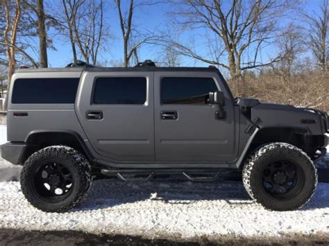 hummer   matte grey metallic lifted nittos