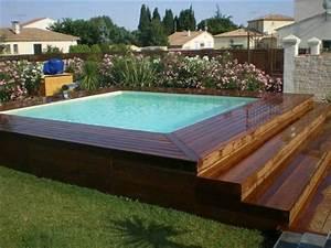 Piscine Semi Enterrée Composite : montpellier 34 piscine semi enterr e avec sa terrasse ~ Dailycaller-alerts.com Idées de Décoration