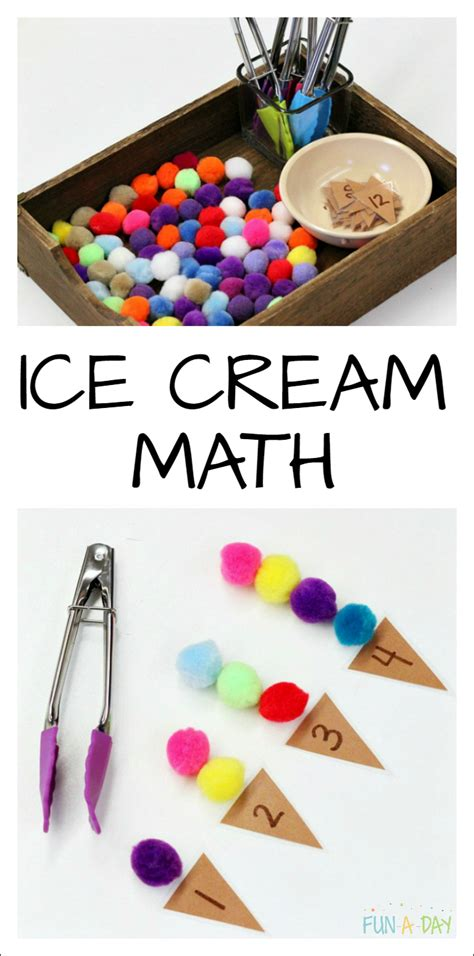 summer math that s for a preschool theme 378 | Ice Cream Numbers preschool summer math that explores fine motor skills counting one to one correspondence and more early math skills