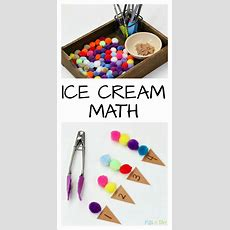 Summer Math That's Perfect For A Preschool Ice Cream Theme