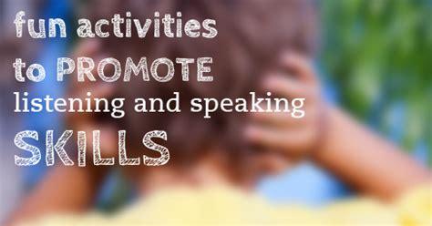 promote  childs listening  speaking skills