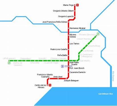 Santo Domingo Metro Map Dominican Subway Republic