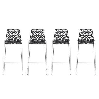 chaise de bar 4 pieds lot de 4 tabourets de bar wilton 4 pieds polypropylène
