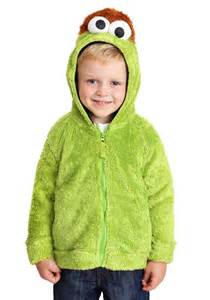 Faux Fur Oscar the Grouch Sesame Street Unisex Costume Hoodie