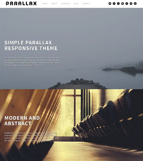 parallax wordpress themes templates design trends