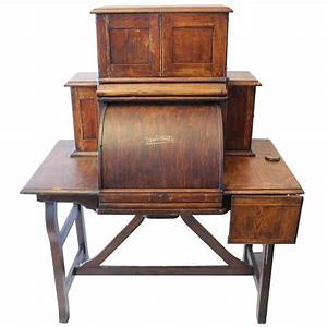 rare antique american industrial mechanical desk for sale With american home furniture desks