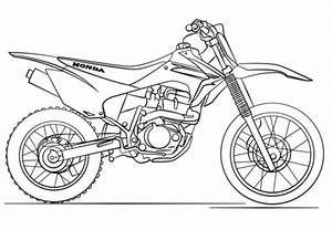 coloriage dirt bike honda coloriages a imprimer gratuits With honda 450 rally kit